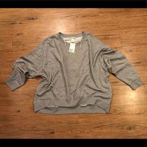 H&M Basic Oversize Grey Long Sleeve Sweatshirt XL